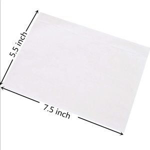 Clear Label Packing Slip Pouches